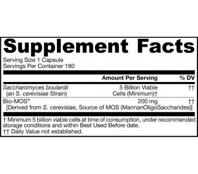 Saccharomyces Boulardii + MOS 5 miljard 180 capsules   Jarrow Formulas