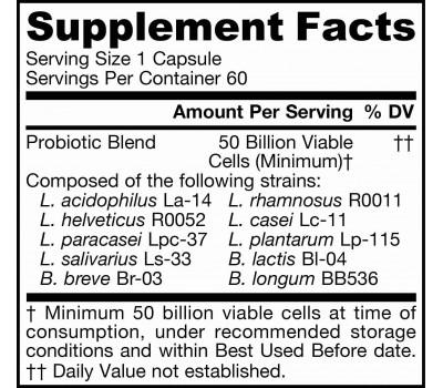 Ultra Jarro-Dophilus 50 miljard 60 capsules  - probioticum met 10 goedaardige bacteriestammen | Jarrow Formulas