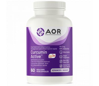 Curcumin Active 60 capsules - fast acting Longvida curcumin extract | AOR