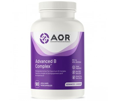 B - Advanced B-complex 90 capsules trial-size - benfotiamine, methyl-B12, 5MTHF and pantethine | AOR
