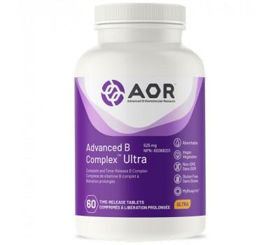 B - Ultra Advanced B complex 60 time-released tabletten - benfotiamine, methyl-B12, 5MTHF, pantethine en PQQ   AOR