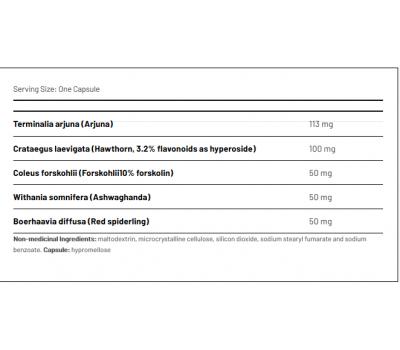Cardana 120 capsules - Terminalia arjuna, hawthorn, Coleus forshkoli, Ashwagandha and Boerhaavia diffusa | AOR