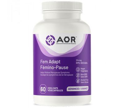 Fem Adapt 60 capsules - lignanen, isoflavonen, genistein, zwarte cohosh en hop   AOR