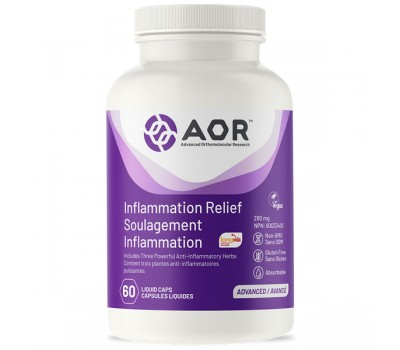 Inflammation Relief 60 capsules - boswellia, optimized curcuma and ashwagandha | AOR