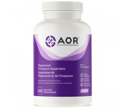 Magnesium / Potassium Aspartates 120 capsules helps maintain muscle function  | AOR
