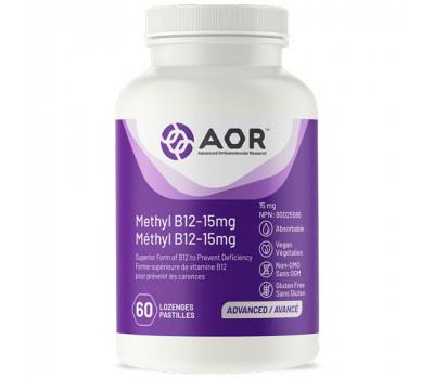 B12 - Methylcobalamine Ultra 15mg 60 zuigtabletten | AORB12 - Methylcobalamine Ultra 15mg 60 zuigtabletten | AOR