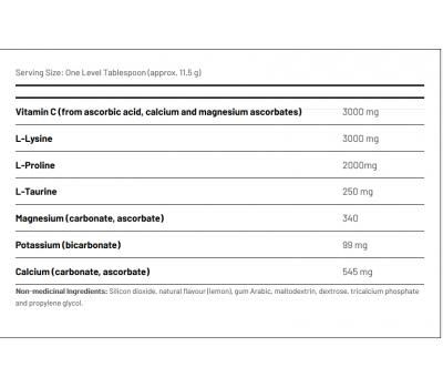 TLC 3 poeder 240g - Ortho C+: taurine, lysine, vitamine C en proline | AOR