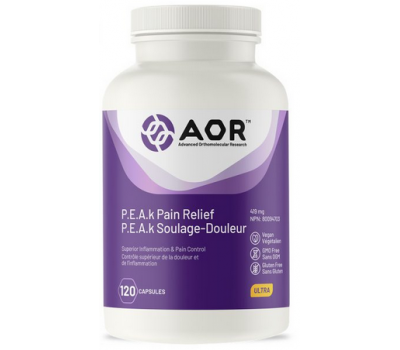 P.E.A.k Pain Relief 120 capsules - palmitoylethanolamide, quercetin, Chinese skullcap, boswellia and  black Catechu | AOR