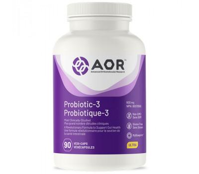 Probiotic3 90 capsules - Streptococcus faecalius, Clostridium butyricum, Bacillus mesentericus  remt groei van kwaadaardige bacteriën | AOR