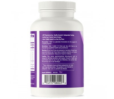 T-100 60 tablets - powerful thyroid formula with tyrosine and herbs   AOR