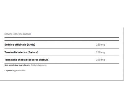 Triphlax 750mg 100 capsules -  darmontgifting met Terminalia belerica, T. chebula & Emblica officinalis | AOR