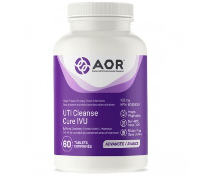 UTI Cleanse 60 tablets - D-mannose + cranberry extract prevents urinary tract infections | AOR