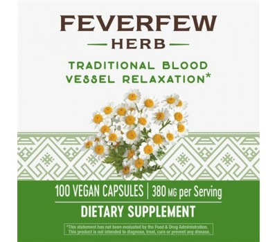 Feverfew Leaves 380mg 100 caps - moederkruid met 0,7% parthenolide | Nature's Way