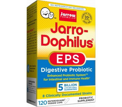 Jarro-Dophilus EPS 5 Billion 120 capsules - temperature stable travelprobiotic | Jarrow Formulas