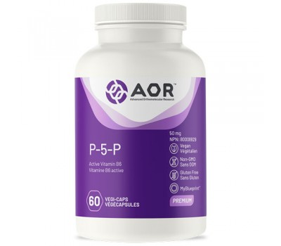 B6 - P5P 60 capsules - pyridoxal-5'-phosphate,  biologically active form of vitamin B6  | AOR