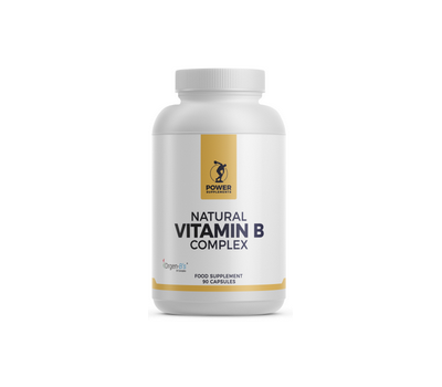 B - Natural Vitamin B Complex 90 capsules from organically grown tulsi, lemon and guave | Power Supplements