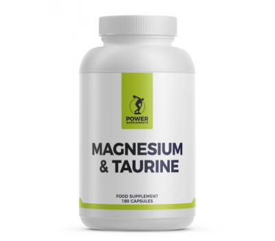 Magnesium + Taurine 180 capsules | Power Supplements