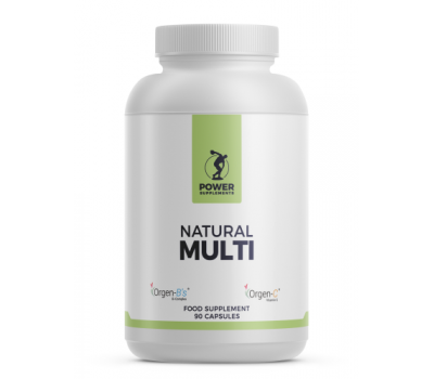 Natural Multi 90 softgels, an all-natural multi-vitamin and multi-mineral | Power Supplements