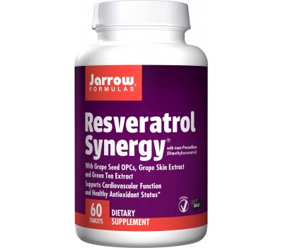 Resveratrol Synergy 20mg 60 tabletten - 90% transresveratrol, druivepit, druivenschil & groene thee | Jarrow Formulas
