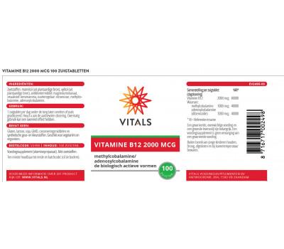 B12 - methylcobalamine en adenosylcobalamine zuigtablet 2 mg | Vitals