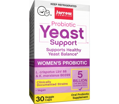Probiotic Yeast Support 5 billion 30 capsules - probiotic to support healthy yeast balance in the vaginal tract | Jarrow Formulas