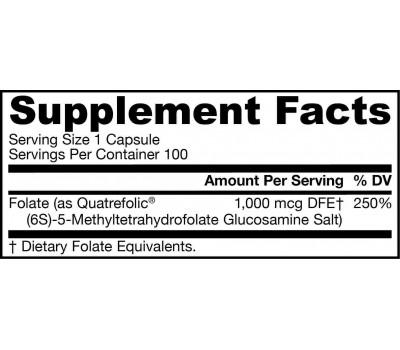 5-MTHF Methylfolate 1000mcg 100 capsules, bio-available folic acid   Jarrow Formulas