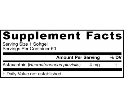 Astaxanthin 4mg 60 softgels | Jarrow Formulas