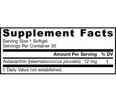 Astaxanthin High Potency 12mg 30 softgels | Jarrow Formulas