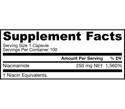 B3 - Niacinamide 100 capsules- no flush form | Jarrow Formulas