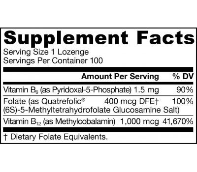 B - Methyl-B12 1mg & MethylFolaat 400mcg + P5P - methylcobalamine en  biofolaat 100 zuigtabletten | Jarrow Formulas