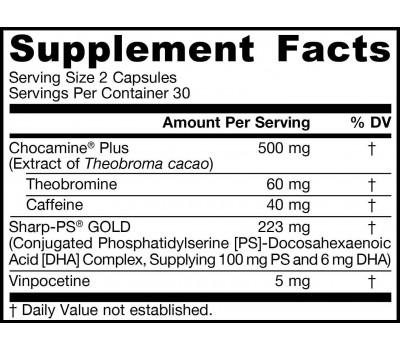 Brain Boost 60 capsules - ChocoMind, fosfatidylserine, DHA, vinpocetine | Jarrow Formulas