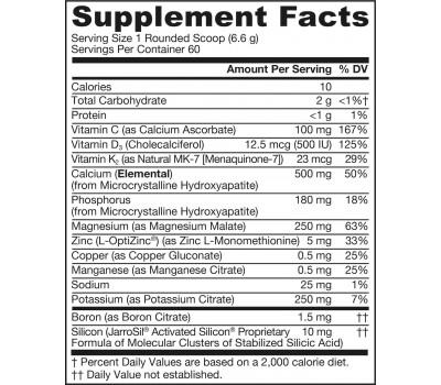 Bone-Up Poeder 396g - calcium (MCHA)  magnesium, silicium, vitamine C, D3, K2 (MK7) | Jarrow Formulas