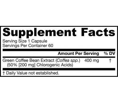 Green Coffee Bean Extract 60 capsules | Jarrow Formulas