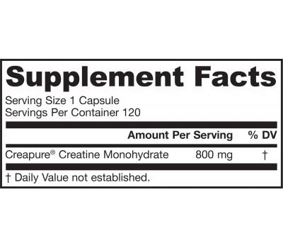 Creatine 800mg 120 capsules - creatine monohydraat | Jarrow Formulas