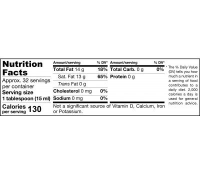 Organic Extra Virgin Coconut Oil 454g - extra virgiene biologische kokosolie