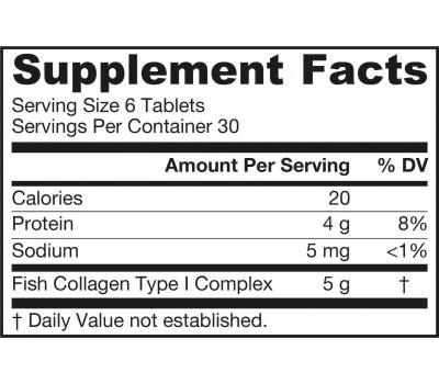 Collagen Optimizer 180 tablets - fish collagen type 1 complex | Jarrow Formulas