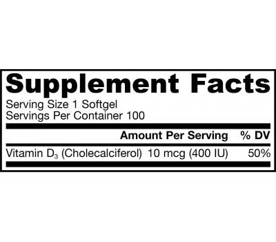 D3 - cholecalciferol voor kinderen 400ie 100 softgels - 10mcg | Jarrow Formulas