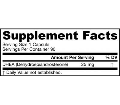 DHEA 25mg 90 capsules - dehydroepiandrosteron | Jarrow Formulas