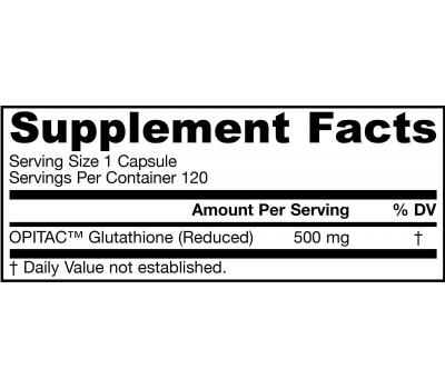 Glutathione Reduced (GSH) 500mg 120 capsules | Jarrow Formulas