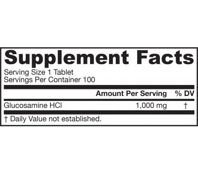 Glucosamine HCl Mega Vegan 100 tabletten - zoutvrije glucosamine hydrochloride | Jarrow Formulas