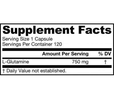 Glutamine 120 capsules 750mg | Jarrow Formulas