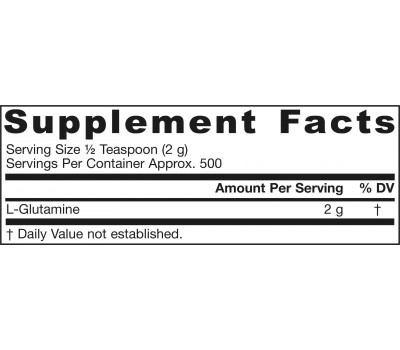 Glutamine 1kg - glutaminepoeder | Jarrow Formulas