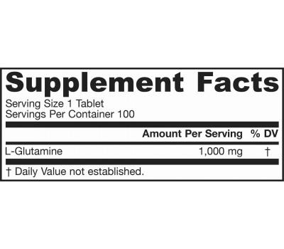 Glutamine 100 tablets 1000mg | Jarrow Formulas