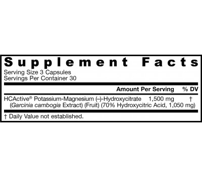 HCActive Garcinia Cambogia 90 capsules - hydroxycitric acid | Jarrow Formulas