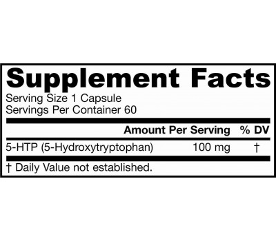 5-HTP 100mg 60 capsules - 5-hydroxytryptophan from Griffonia simplicifolia | Jarrow Formulas