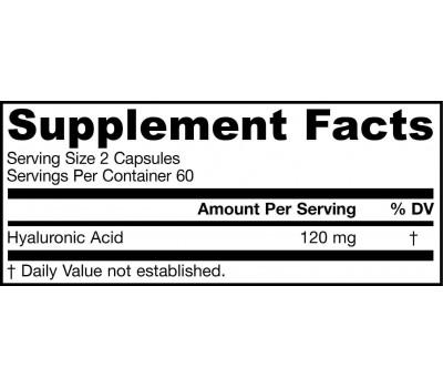 Hyaluronic Acid Complex 120 capsules grootverpakking - hyaluronzuur | Jarrow Formulas