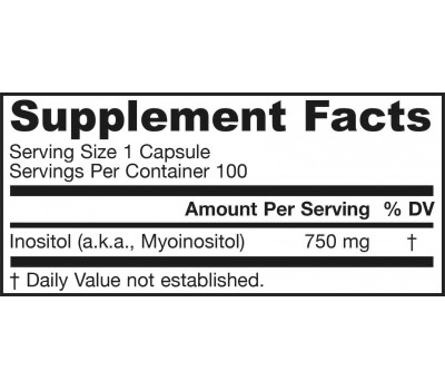 B8 - Inositol 750mg 100 capsules | Jarrow Formulas