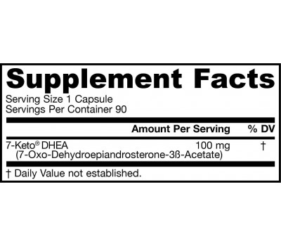 7-Keto DHEA 90 capsules - 7-oxo-dehydroepiandrosterone | Jarrow Formulas