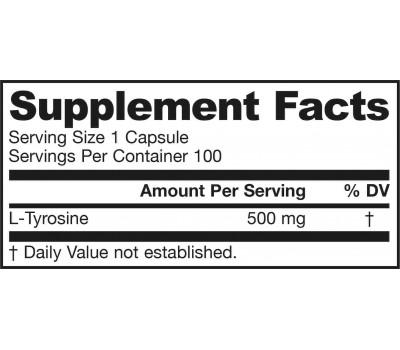 Tyrosine 500mg 100 capsules | Jarrow Formulas