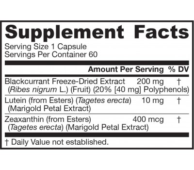 Lutein+Blackcurrant 60 capsules - blackcurrant, lutein and zeaxanthin | Jarrow Formulas